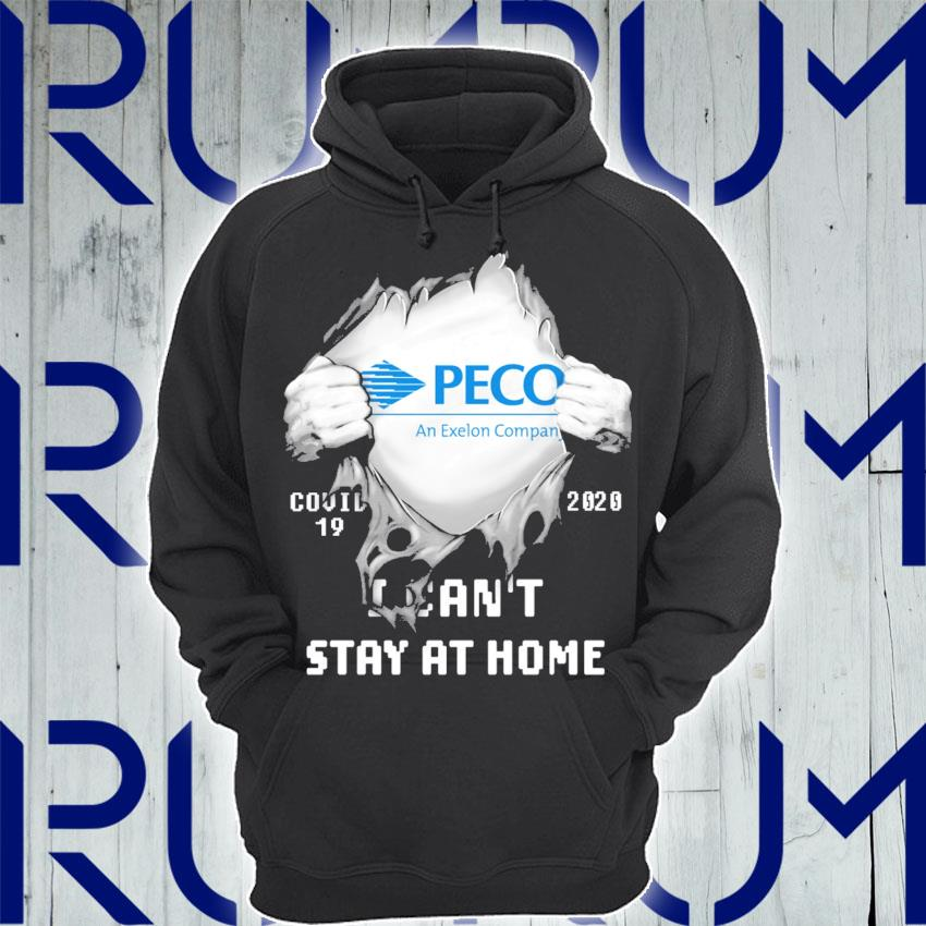 Blood inside Me PECO Covid 19 2020 I can't stay at home s Hoodie