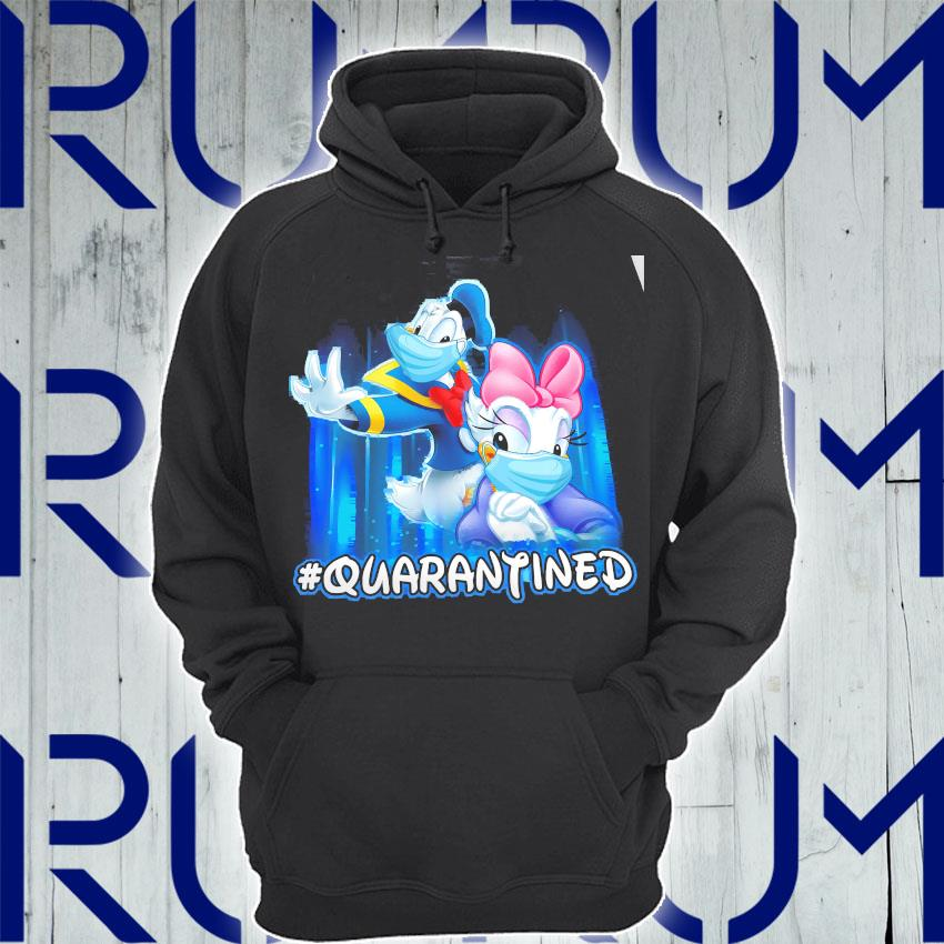 Donald And Daisy Face Mask Quarantined Shirt Hoodie