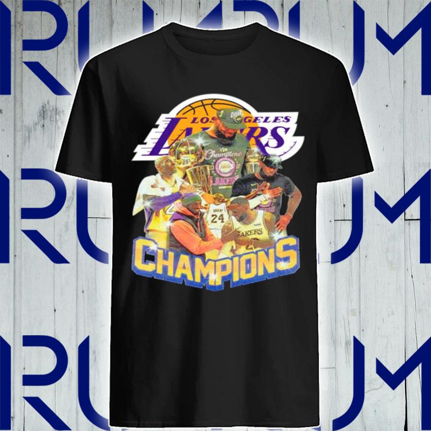 Kobe Bryant And Lebron James Champions 2021 shirt