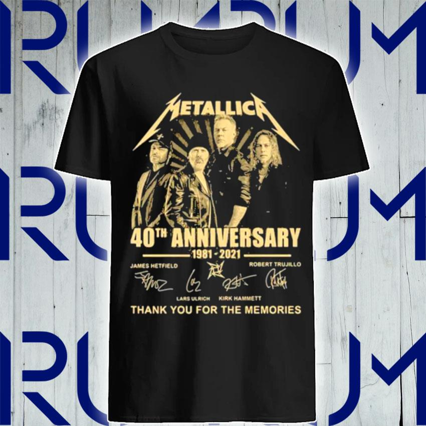 Metallica 40th Anniversary Thank You For The Memories Signature shirt