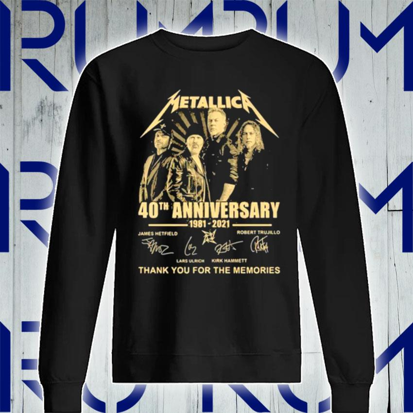 Metallica 40th Anniversary Thank You For The Memories Signature s Sweatshirt