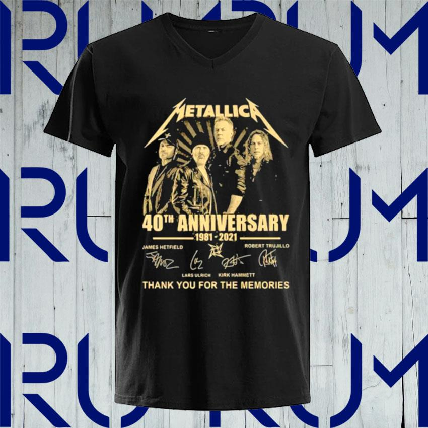 Metallica 40th Anniversary Thank You For The Memories Signature s V-neck