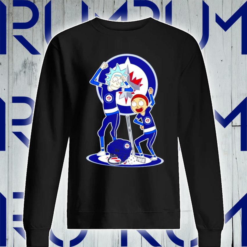 NHL Winnipeg Jets Rick and Morty s Sweatshirt