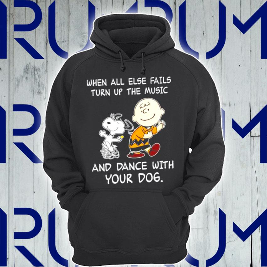 Snoopy and Woodstocks when all else fails turn up the music and dance with your dog s Hoodie