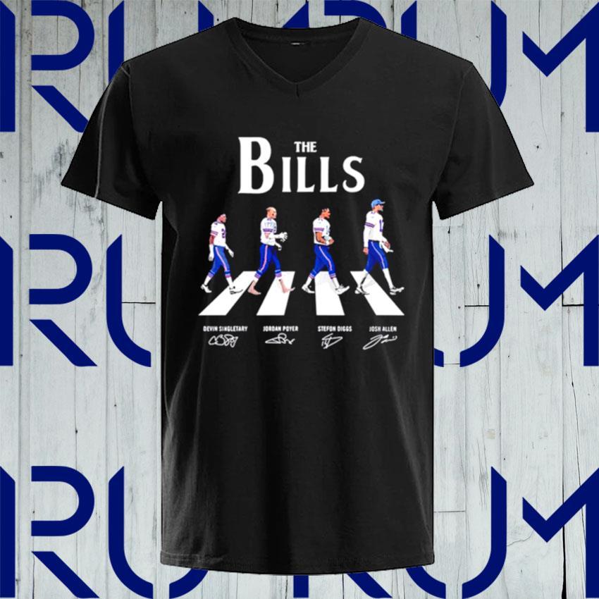 The Bills Abbey Road signatures s V-neck