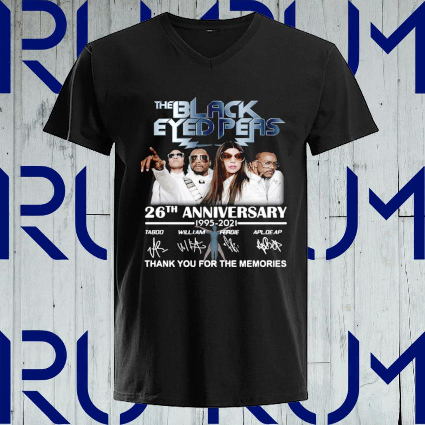 The Black Eyed Peas 26th anniversary 1995 2021 thank you for the memories signatures s V-neck