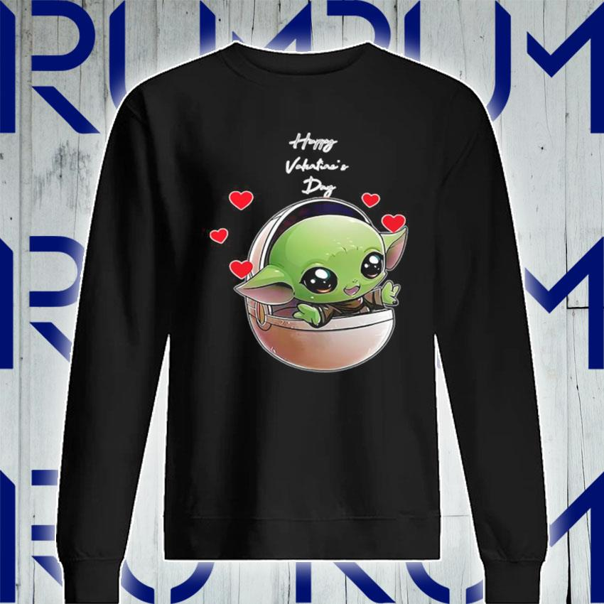 The Mandalorian Baby Yoda Happy Valentine Day 2021 s Sweatshirt