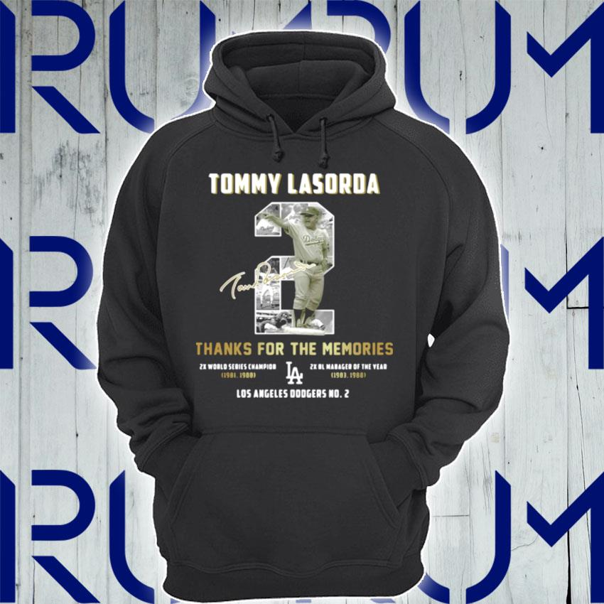 Tommy Lasorda Thanks For The Memories La Dodgers s Hoodie